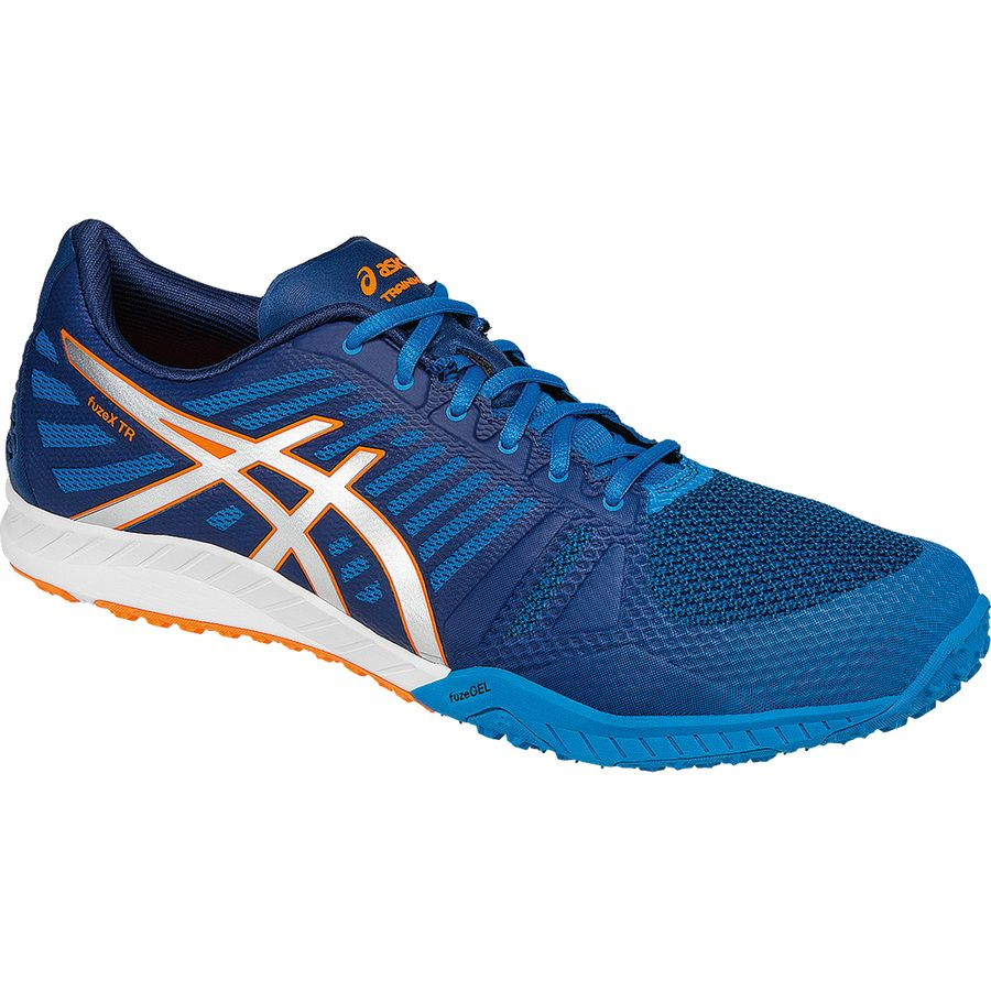 Asics Fuzex TR Shoe - Men's Blue Jewel Silver Hot Orange アウトドア メンズ 男性用 靴 ランニングシューズ Running Shoes