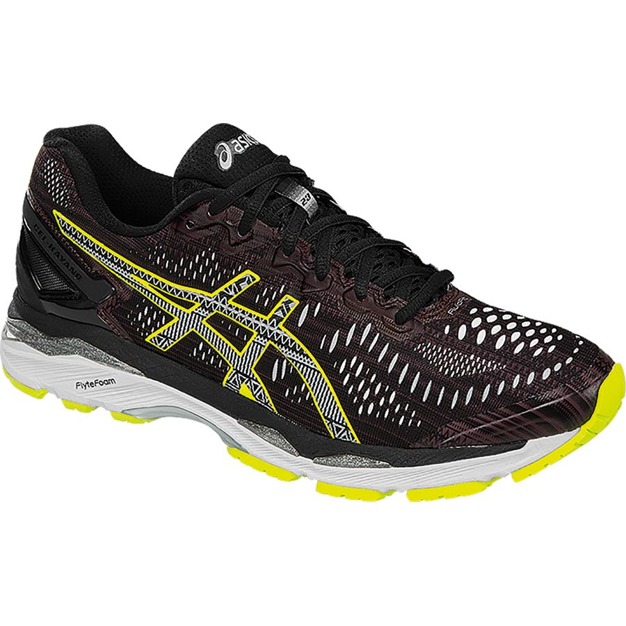 Asics Gel-Kayano 23 Lite-Show Running Shoe - Men's Rioja Red Black Sulphur Spring アウトドア メンズ 男性用 靴 ランニングシューズ Running Shoes