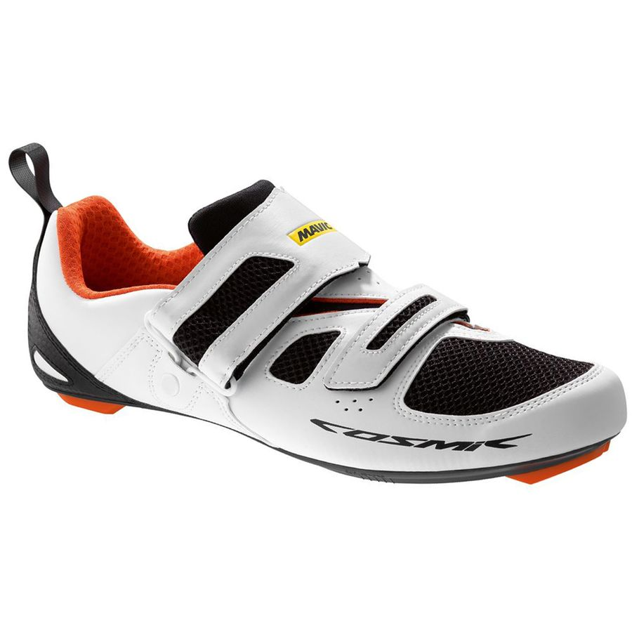 Mavic Cosmic Elite Tri Shoes - Men's White Black Orange アウトドア メンズ 男性用 靴 ランニングシューズ Running Shoes