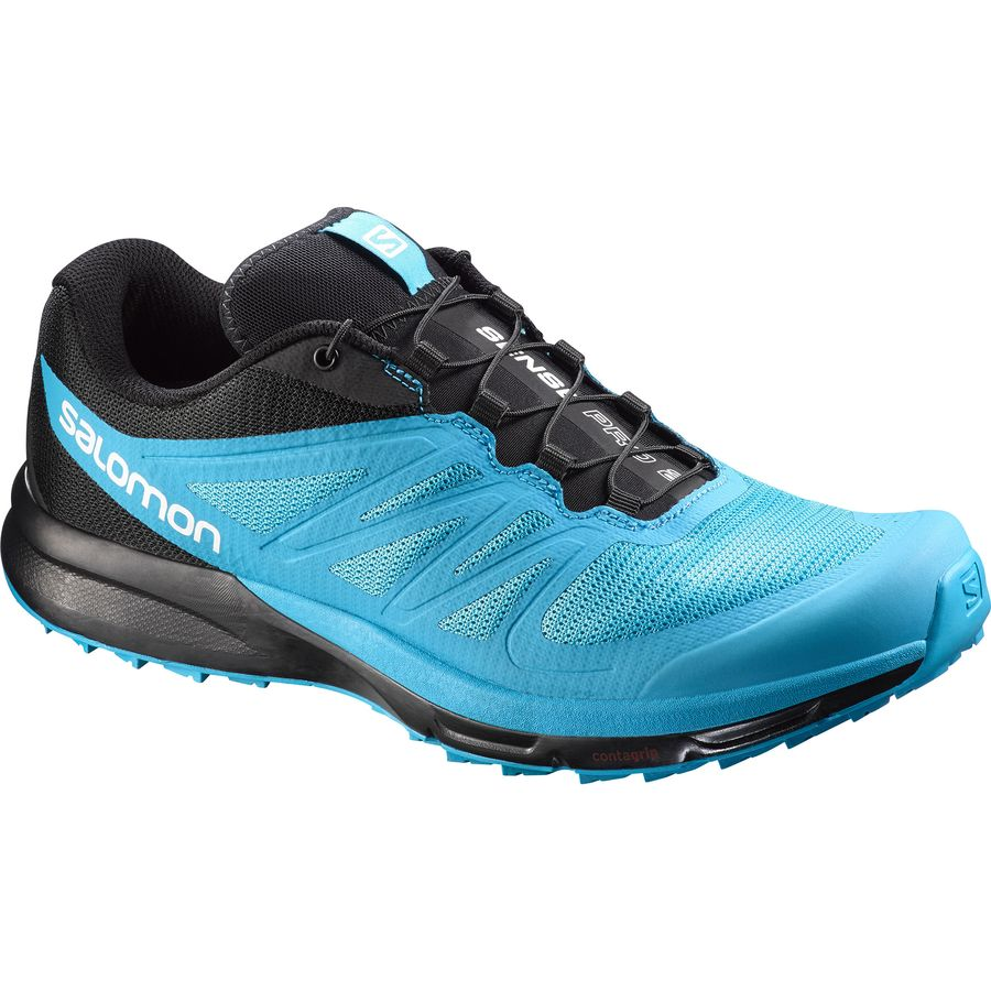 Salomon Sense Pro 2 Trail Running Shoe - Men's Scuba Blue Black White アウトドア メンズ 男性用 靴 ランニングシューズ Running Shoes