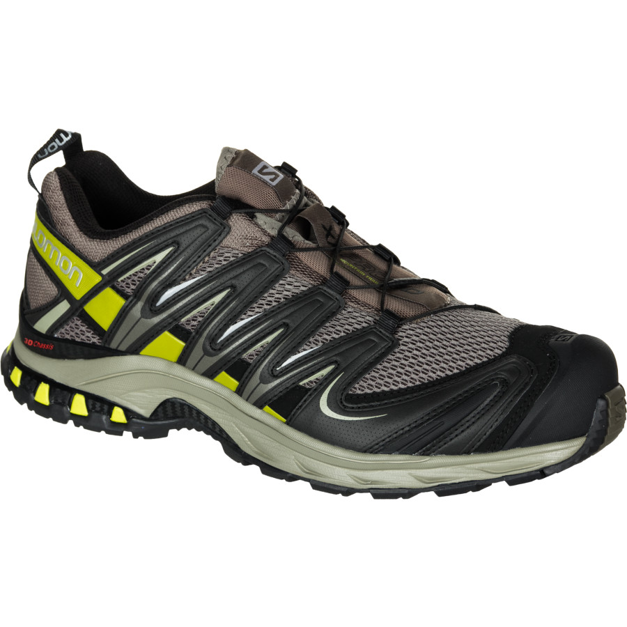 Salomon XA Pro 3D Trail Running Shoe - Wide - Men's Swamp Dark Titanium Seaweed Green アウトドア メンズ 男性用 靴 ランニングシューズ Running Shoes