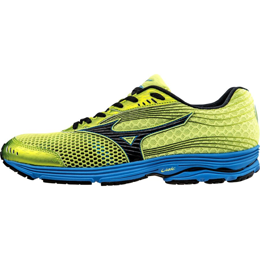 Mizuno Wave Sayonara 3 Running Shoe - Men's Wild Lime Black Directoire Blue アウトドア メンズ 男性用 靴 ランニングシューズ Running Shoes