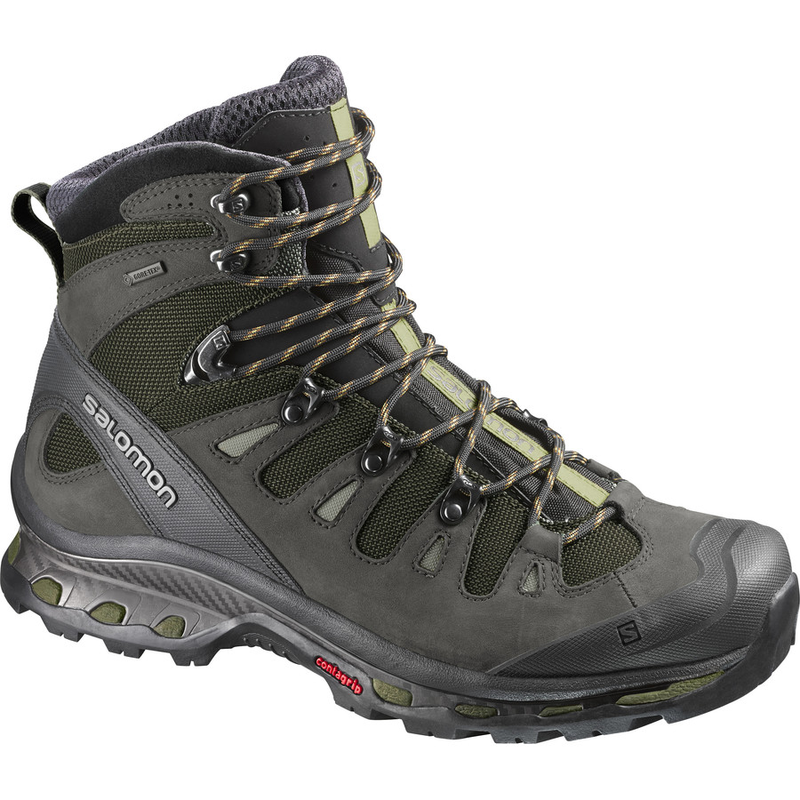 Salomon Quest 4D 2 GTX Backpacking Boot - Men's Iguana Green Asphalt Dark Titanium アウトドア メンズ 男性用 靴 ハイキングシューズ ブーツ