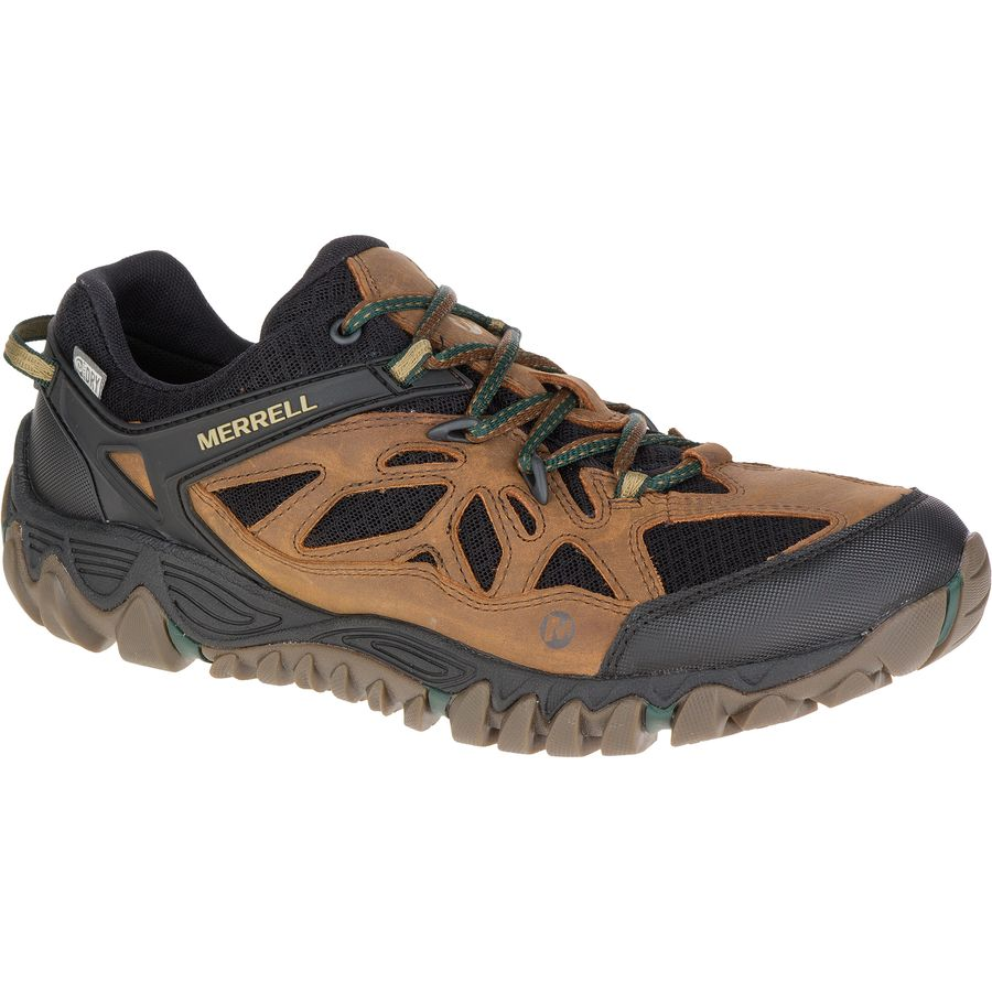 Merrell All Out Blaze Ventilator Waterproof Hiking Shoe - Men's Merrell Tan アウトドア メンズ 男性用 靴 ハイキングシューズ ブーツ