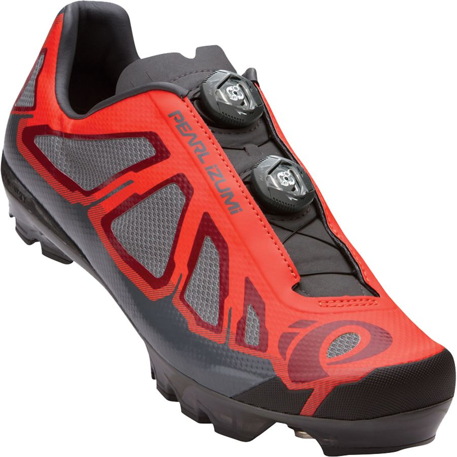 Pearl Izumi X-Project 1.0 Shoe - Men's Mandarin Red Black アウトドア メンズ 男性用 靴 バイクシューズ Bike Shoes