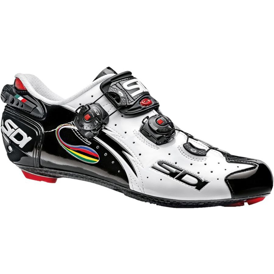 Sidi Wire Vent Carbon Shoe - Men's Black White IRide アウトドア メンズ 男性用 靴 バイクシューズ Bike Shoes