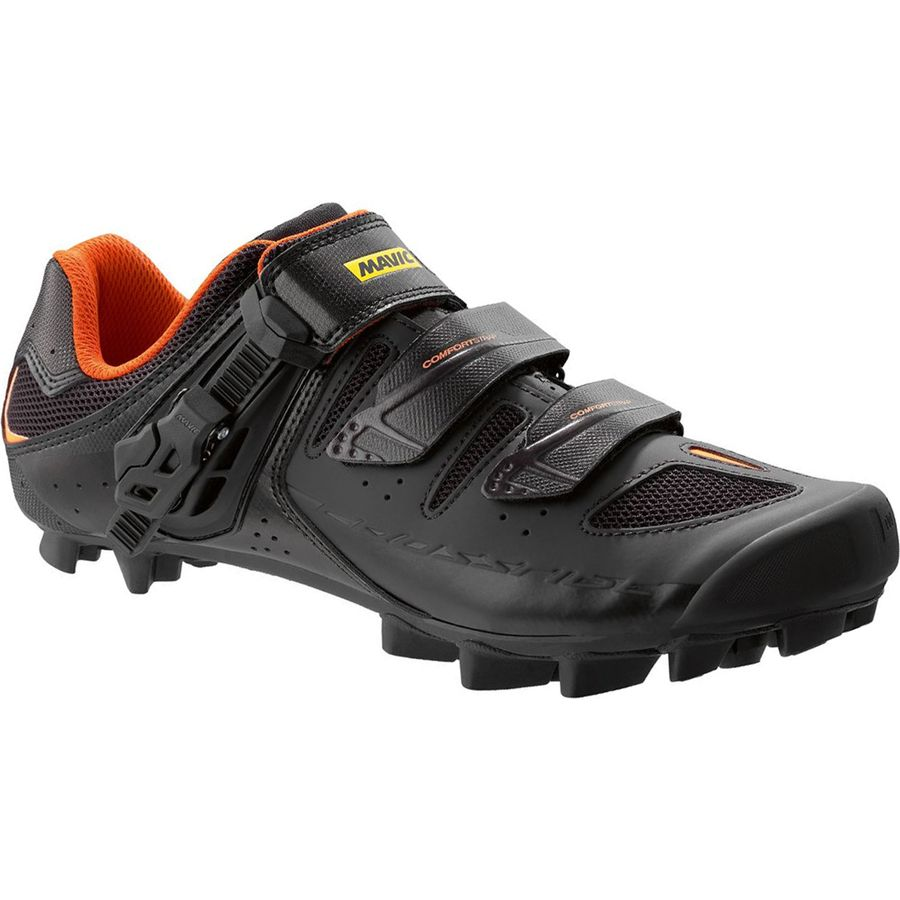 Mavic Crossride SL Elite Shoe - Men's Black Grey Orange アウトドア メンズ 男性用 靴 バイクシューズ Bike Shoes