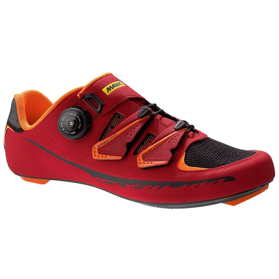 Mavic Ksyrium Pro II Shoes - Men's Red Black Orange アウトドア メンズ 男性用 靴 バイクシューズ Bike Shoes