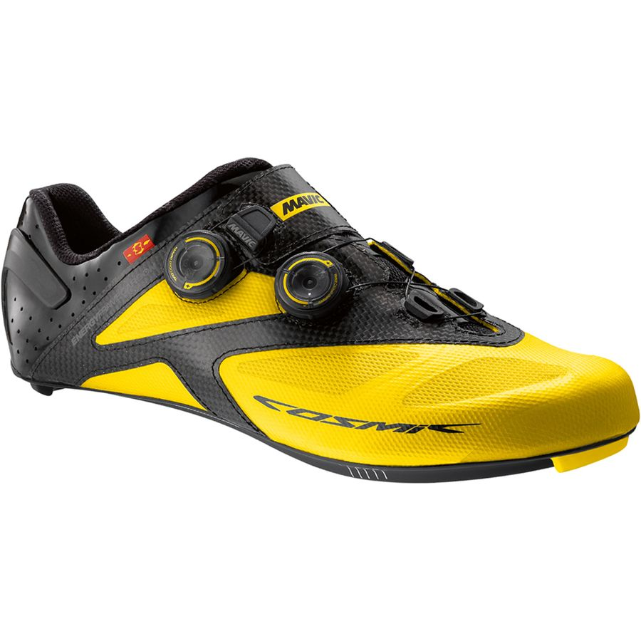 Mavic Cosmic Ultimate II Shoe - Men's Yellow Mavic Black アウトドア メンズ 男性用 靴 バイクシューズ Bike Shoes