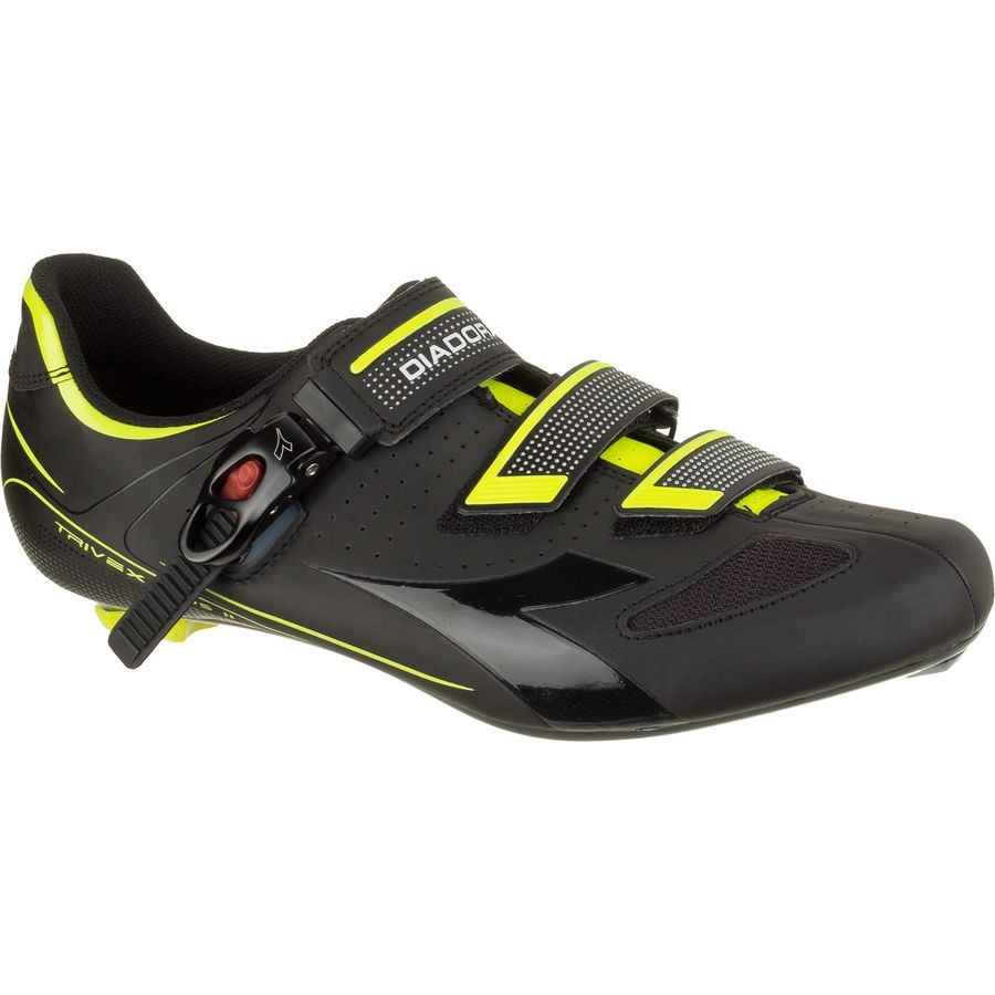 Diadora Trivex Plus II Shoes - Men's Black Yellow Fluo アウトドア メンズ 男性用 靴 バイクシューズ Bike Shoes