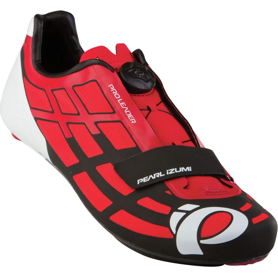 Pearl Izumi P.R.O. Leader II Shoes - Men's Firey Red Black アウトドア メンズ 男性用 靴 バイクシューズ Bike Shoes