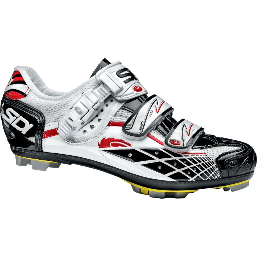 Sidi Spider SRS Mesh Shoes Tecnomicro White Black Red Vernice アウトドア メンズ 男性用 靴 バイクシューズ Bike Shoes