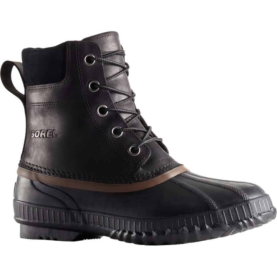 Sorel Cheyanne Lace Full Grain Boot - Men's Black Dark Brown アウトドア メンズ 男性用 靴 シューズ ウインターブーツ Winter Boots & Shoes