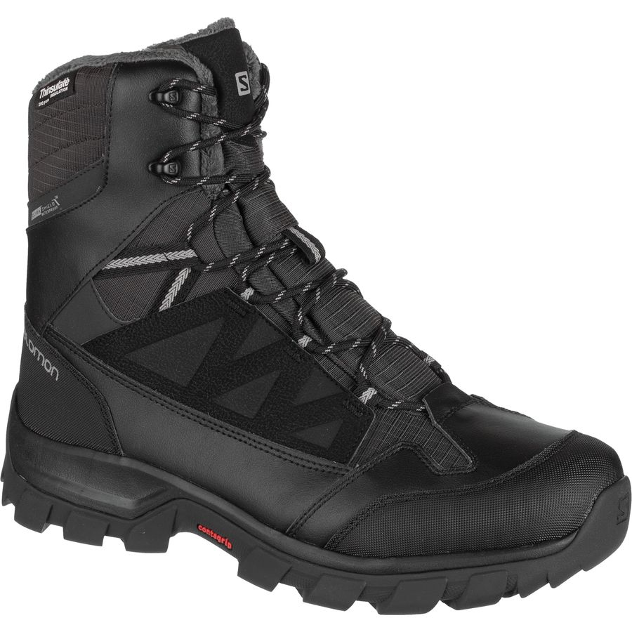 Salomon Chalten TS CS Waterproof Boot - Men's Black Asphalt Pewter アウトドア メンズ 男性用 靴 シューズ ウインターブーツ Winter Boots & Shoes