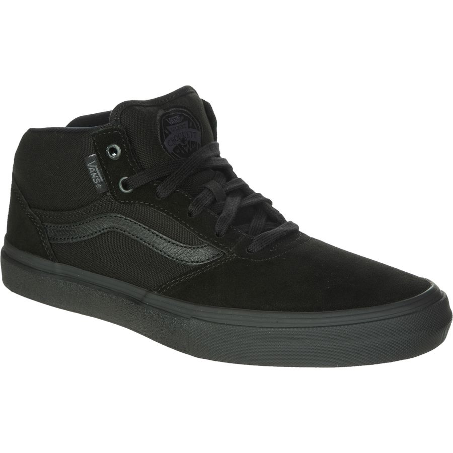 Vans Gilbert Crockett Pro Mid Skate Shoe - Men's Blackout アウトドア メンズ 男性用 靴 スケートシューズ Skate Shoes