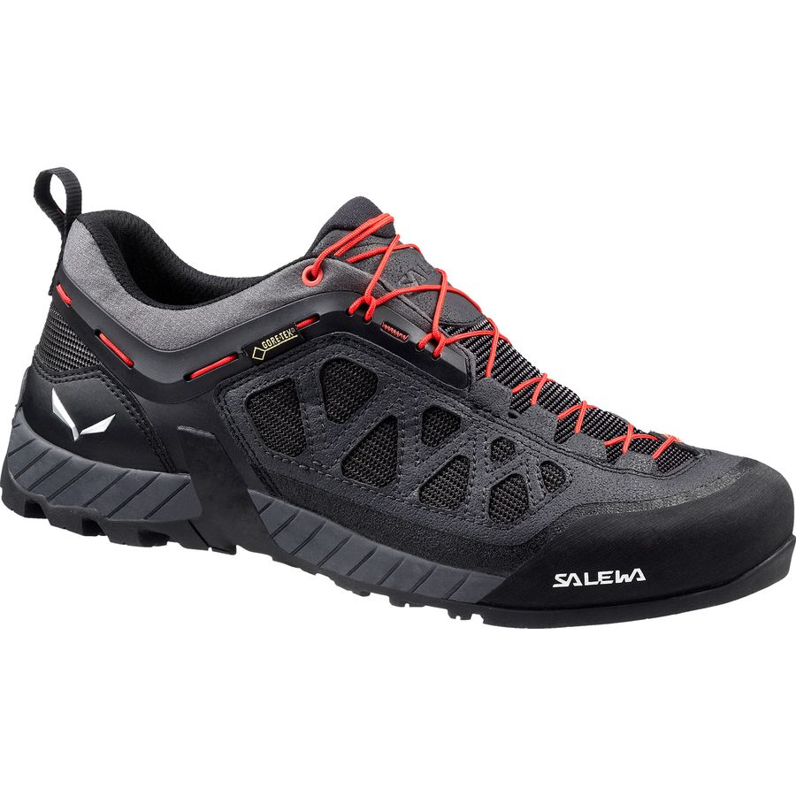 Salewa Firetail 3 GTX Approach Shoe - Men's Black Out Papavero アウトドア メンズ 男性用 靴 アプローチシューズ Approach Shoes