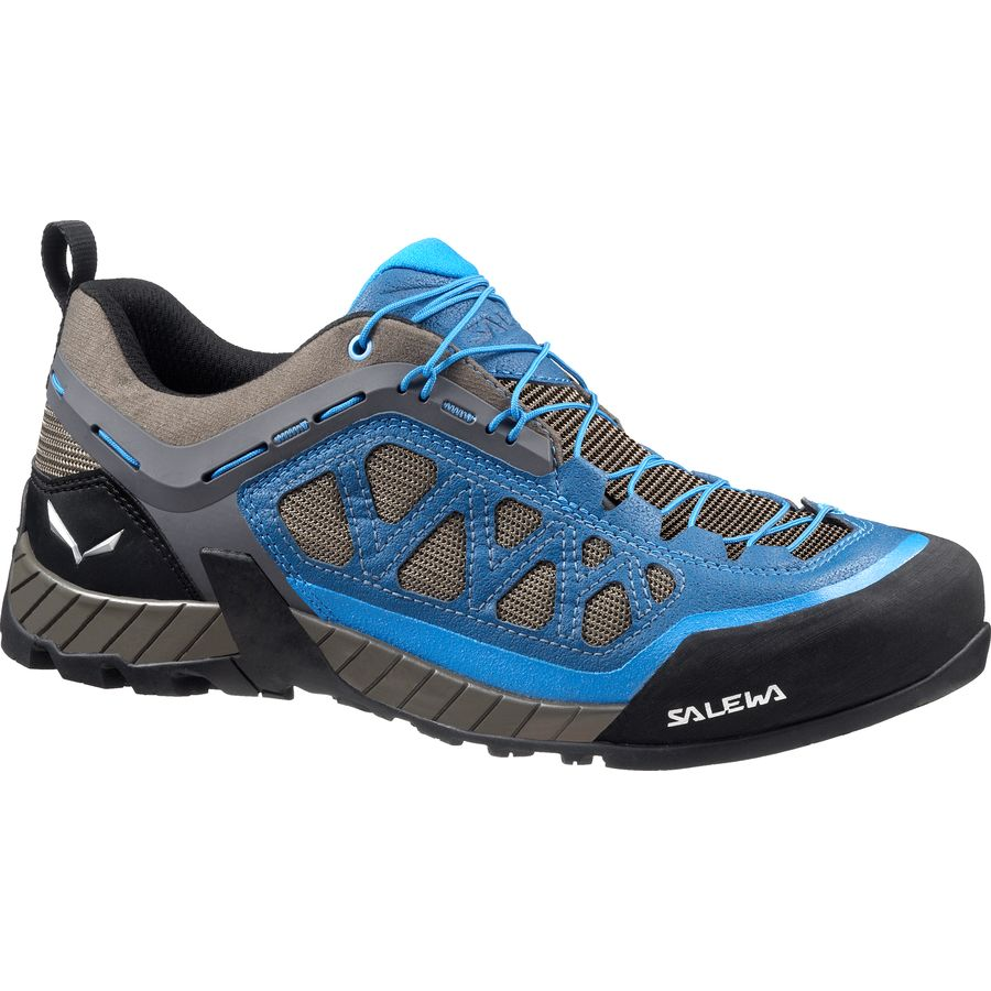 Salewa Firetail 3 Approach Shoe - Men's Black Out Mayan Blue アウトドア メンズ 男性用 靴 アプローチシューズ Approach Shoes