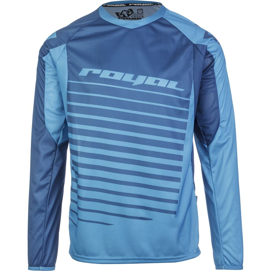 Royal Racing Stage 2 Jersey - Long Sleeve - Men's Navy Electric Blue アウトドア メンズ 男性用 バイクウェア バイクジャージ 自転車
