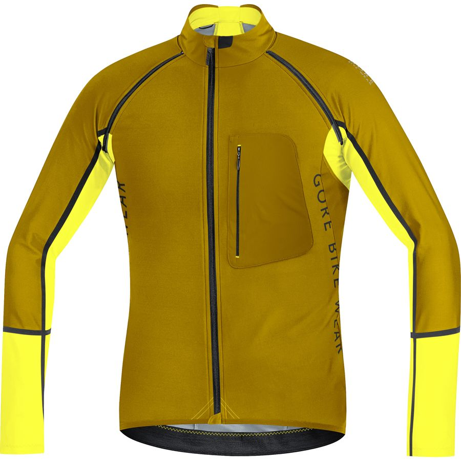 Gore Bike Wear Alp-X Pro WS SO Zip-Off Jersey - Long-Sleeve - Men's Golden Oak Cadmium Yellow アウトドア メンズ 男性用 バイクウェア バイクジャケット 自転車