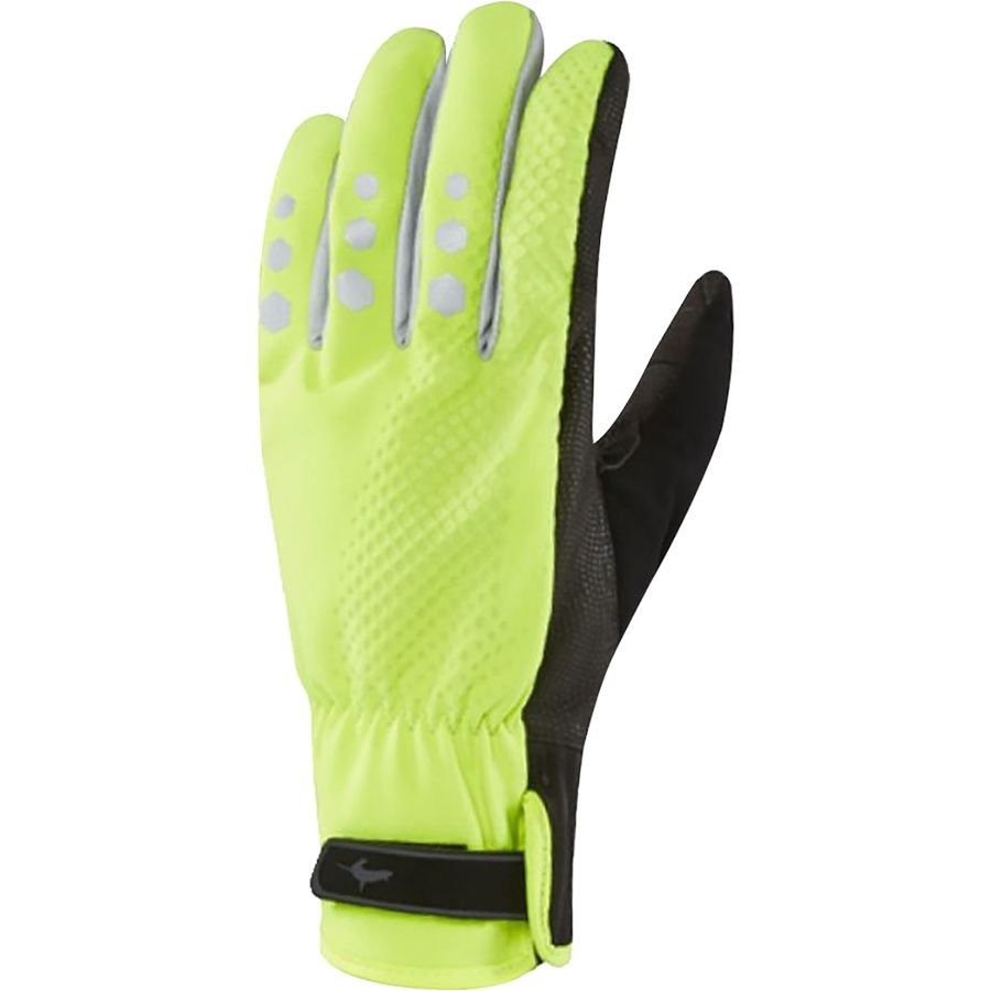 SealSkinz All Weather Cycle Gloves - Men's High Vis Yellow Black アウトドア メンズ 男性用 バイクグローブ 手袋 自転車