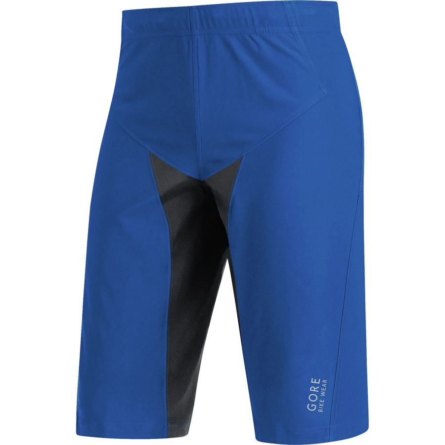 Gore Bike Wear Alp-X Pro WindStopper Soft Shell Shorts - Men's Brilliant Blue Black アウトドア メンズ 男性用 バイク 自転車 ビブショーツ