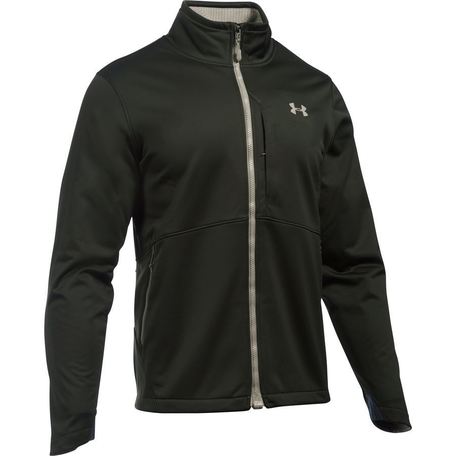 Under Armour Coldgear Infrared Softershell Jacket - Men's Artillery Green Graystone メンズ 男性用 アウトドア ソフトシェル ジャケット コート アウター Softshell Jackets