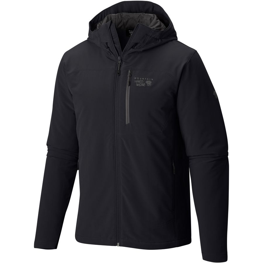Mountain Hardwear Superconductor Hooded Insulated Jacket - Men's Black Titanium メンズ 男性用 アウトドア ジャケット コート アウター