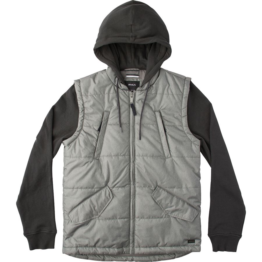 RVCA Puffer Quilted Expedition Insulated Jacket - Men's Pirate Black メンズ 男性用 アウトドア ジャケット コート アウター