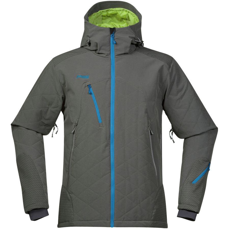 Bergans Kongsberg Insulated Jacket - Men's Solid Dark Grey Spring Leaves Ocean メンズ 男性用 アウトドア ジャケット コート アウター