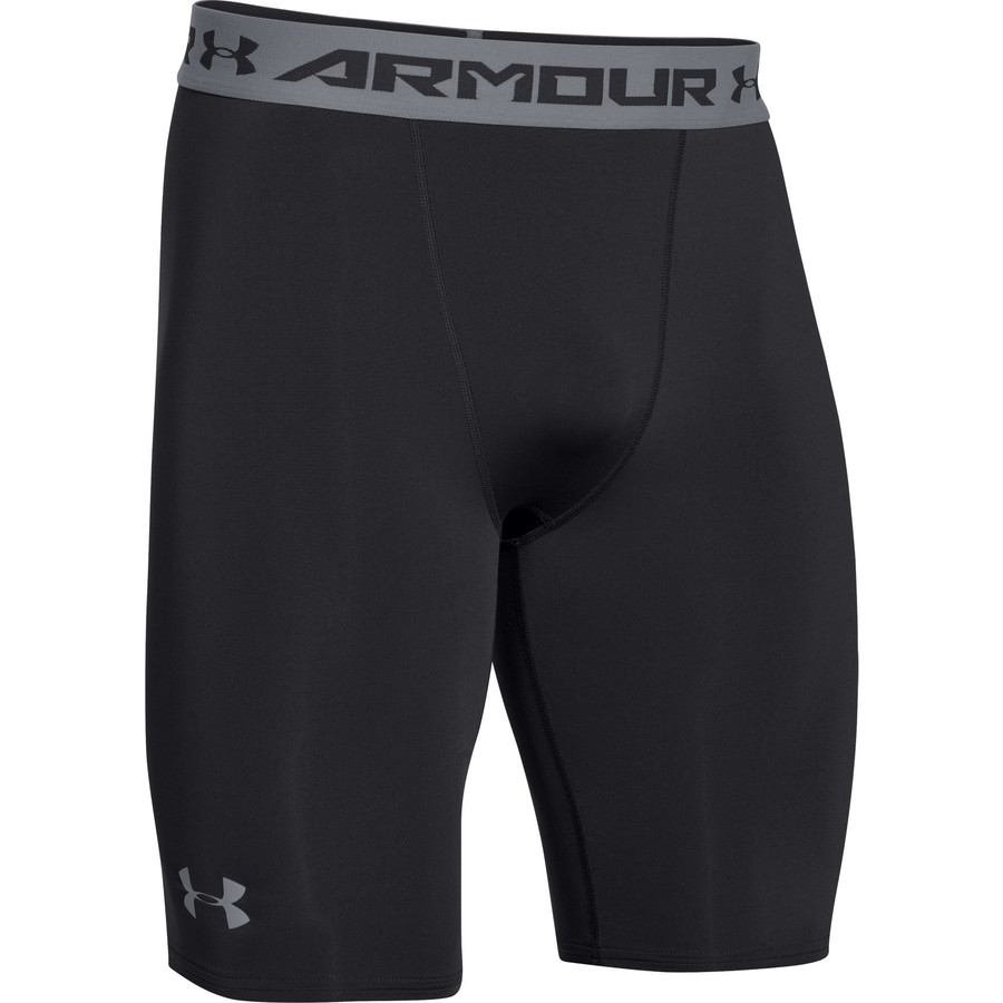 Under Armour Heatgear Compression Short Long - Men's Black Steel アウトドア メンズ 男性用 パンツ ズボン スラックス タイツ Performance Tights