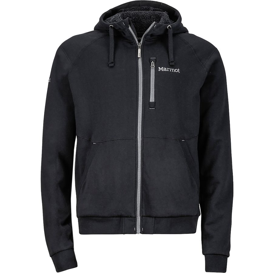 Marmot Parsons Peak Sherpa Full-Zip Hoodie - Men's Black アウトドア メンズ 男性用 パーカー スウェット Hoodies & Sweatshirts