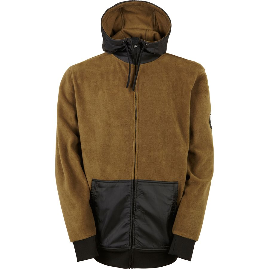 686 Icon Bonded Full-Zip Fleece Hoodie - Men's Olive アウトドア メンズ 男性用 パーカー スウェット Hoodies & Sweatshirts
