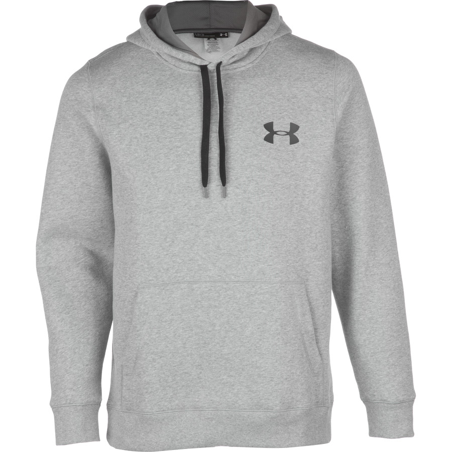 Under Armour Rival Cotton Pullover Hoodie - Men's True Gray Heather Black アウトドア メンズ 男性用 パーカー スウェット Hoodies & Sweatshirts