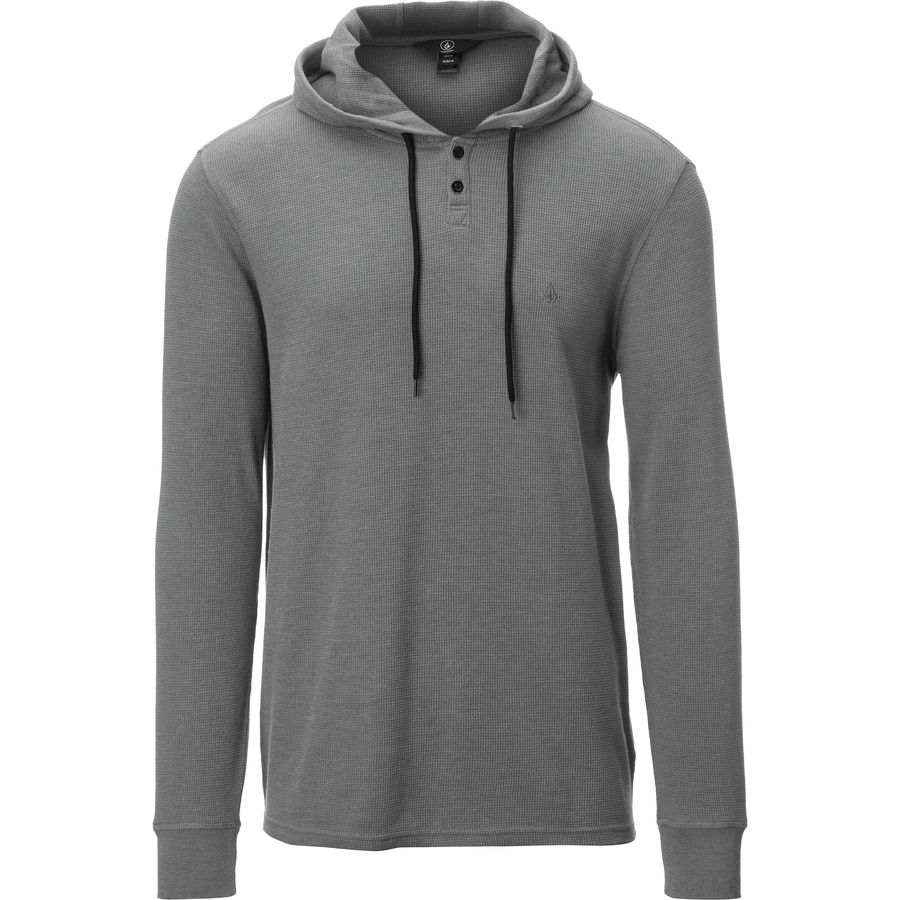 Volcom Murphy Thermal Pullover Hoodie - Men's Pewter アウトドア メンズ 男性用 パーカー スウェット Hoodies & Sweatshirts