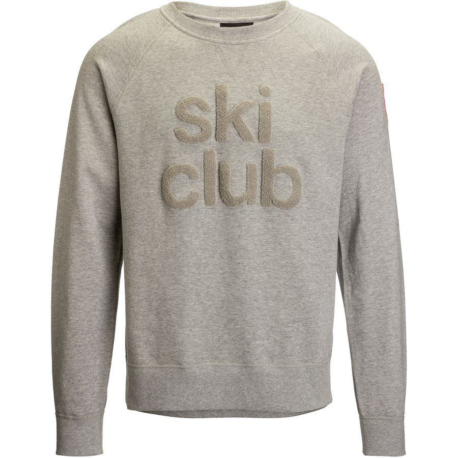 Black Crows Ski Club Crew Sweatshirt - Men's Gray Mountain Patch アウトドア メンズ 男性用 パーカー スウェット Hoodies & Sweatshirts