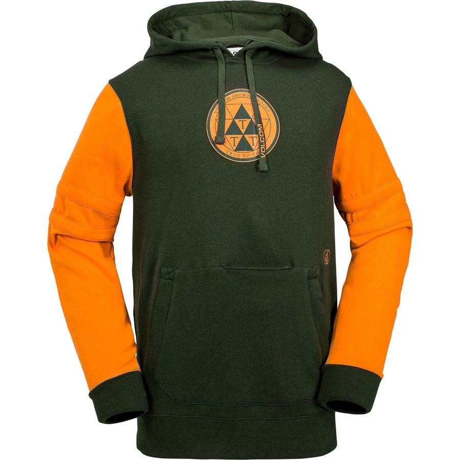 Volcom Faded Fleece Pullover Hoodie - Men's Vintage Green アウトドア メンズ 男性用 パーカー スウェット Hoodies & Sweatshirts