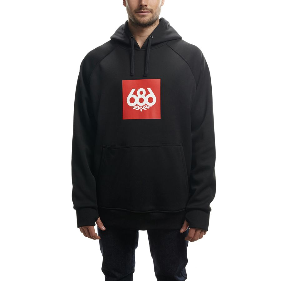 686 Knockout Bonded Fleece Pullover Hoodie - Men's Black アウトドア メンズ 男性用 パーカー スウェット Hoodies & Sweatshirts