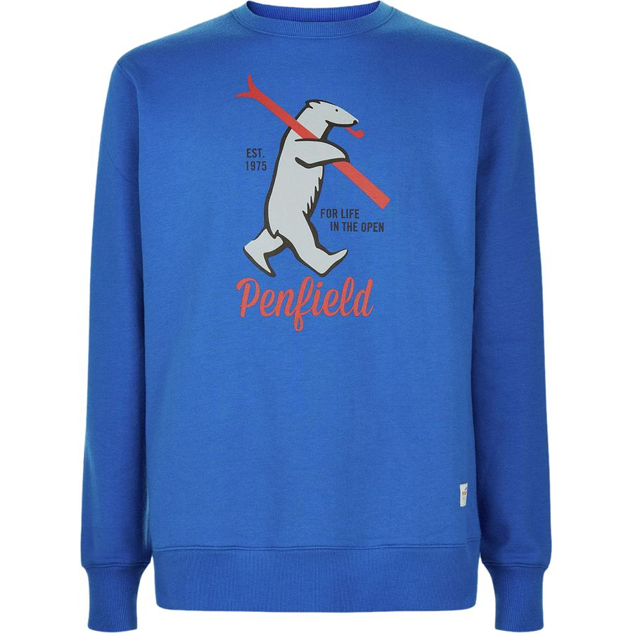 Penfield Ski Bear Crew Sweater - Men's Blue アウトドア メンズ 男性用 パーカー スウェット Hoodies & Sweatshirts