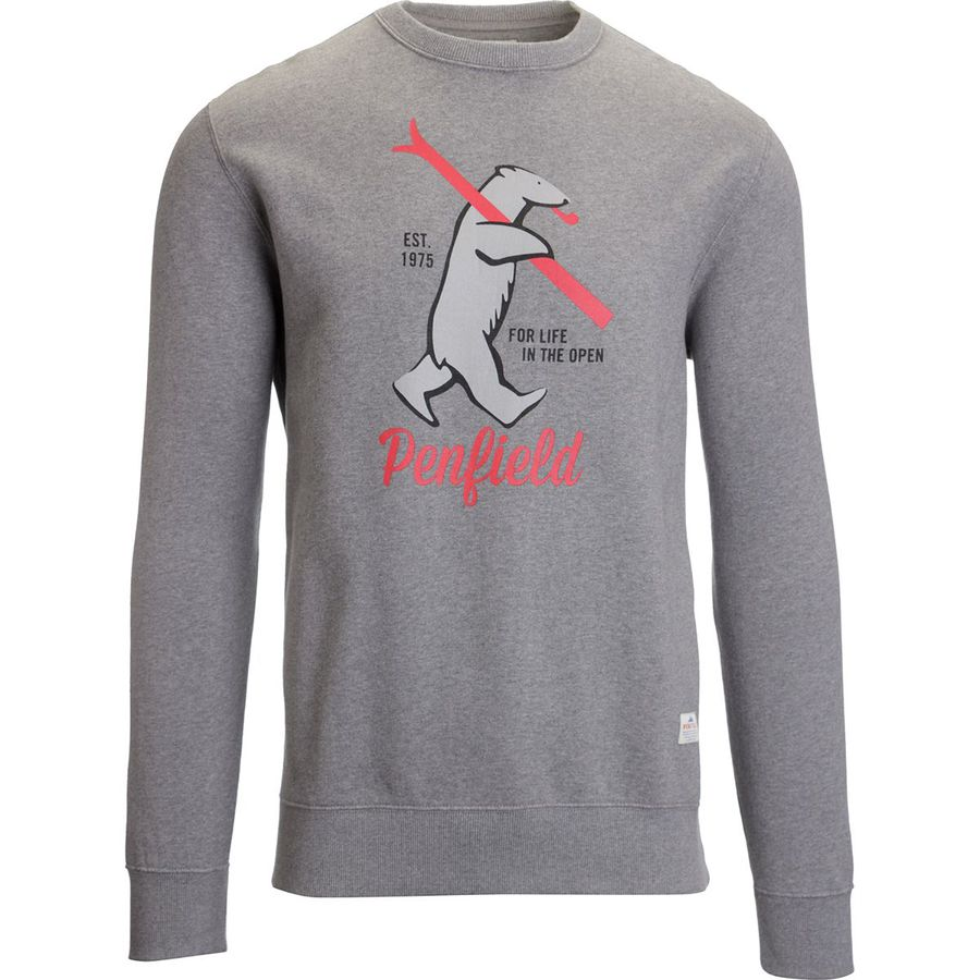 Penfield Ski Bear Crew Sweater - Men's Grey アウトドア メンズ 男性用 パーカー スウェット Hoodies & Sweatshirts