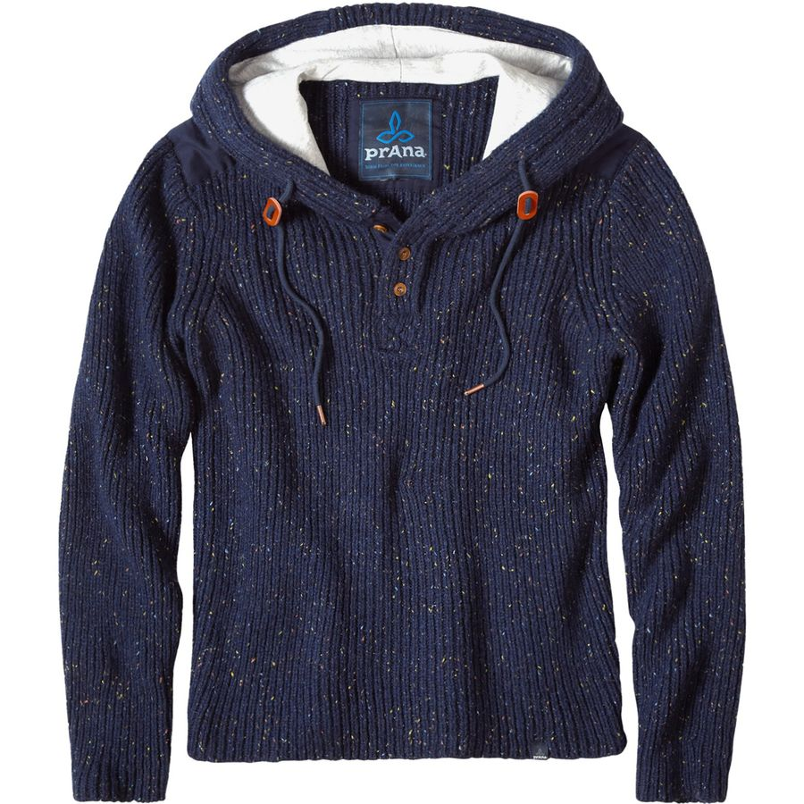 Prana Henley Hooded Sweater - Men's Nautical アウトドア メンズ 男性用 パーカー スウェット Hoodies & Sweatshirts