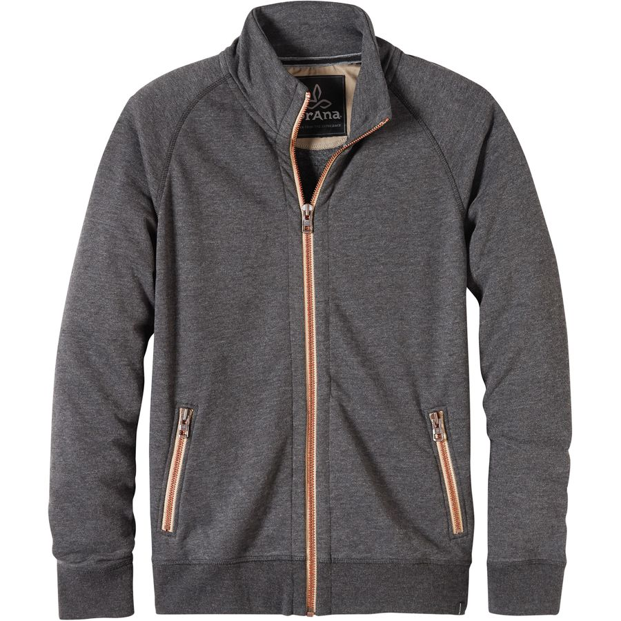 Prana Lifetime Full-Zip Mock Sweater - Men's Black アウトドア メンズ 男性用 パーカー スウェット Hoodies & Sweatshirts