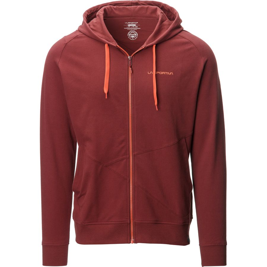 La Sportiva Rocklands Full-Zip Hoodie - Men's Rust アウトドア メンズ 男性用 パーカー スウェット Hoodies & Sweatshirts