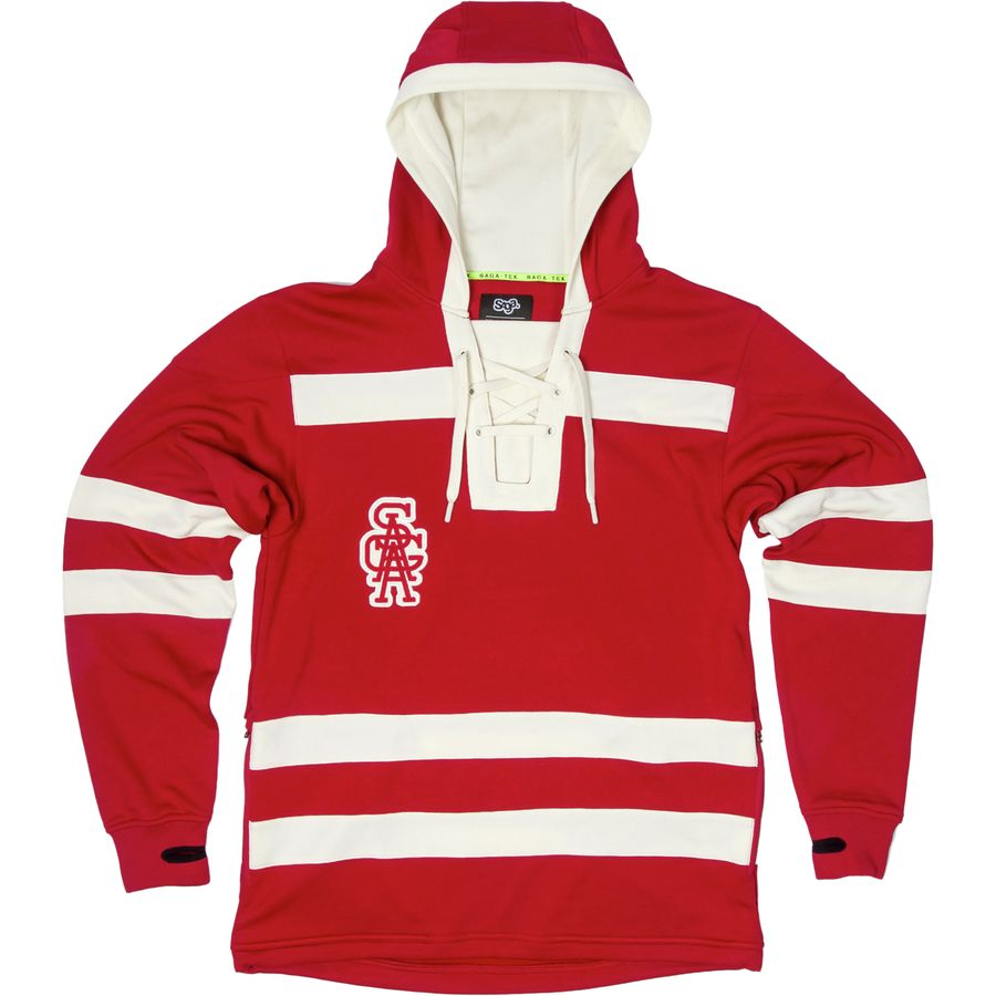 Saga Knuckle Puck Pullover Hoodie - Men's Red アウトドア メンズ 男性用 パーカー スウェット Hoodies & Sweatshirts
