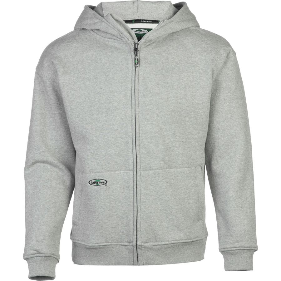 Arborwear Double Thick Full-Zip Hooded Sweatshirt - Men's Athletic Grey アウトドア メンズ 男性用 パーカー スウェット Hoodies & Sweatshirts