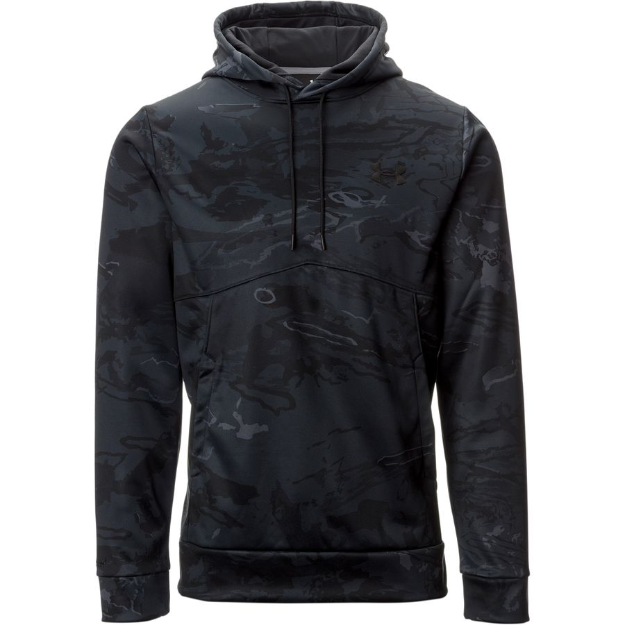 Under Armour Franchise Camo Pullover Hoodie - Men's Black Tonal Reaper Graphite アウトドア メンズ 男性用 パーカー スウェット Hoodies & Sweatshirts