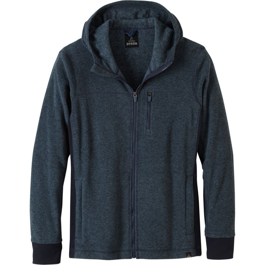 Prana Drey Full-Zip Hoodie - Men's Blue Ash アウトドア メンズ 男性用 パーカー スウェット Hoodies & Sweatshirts