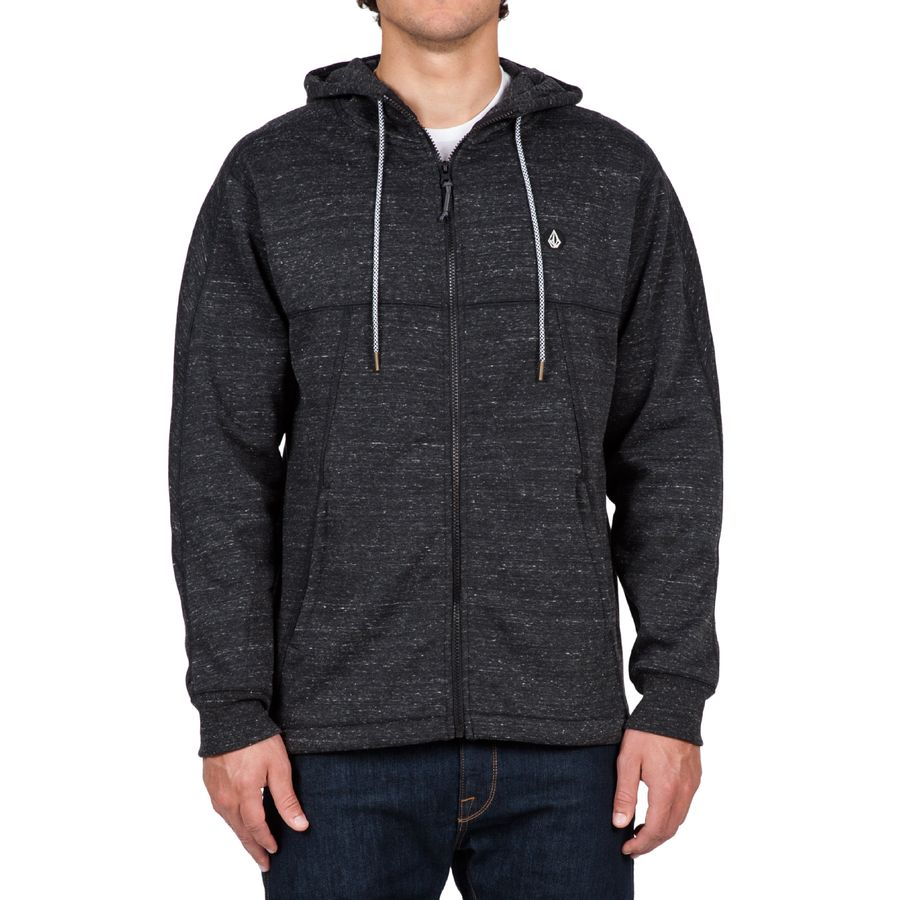 Volcom Ermont Full-Zip Hoodie - Men's Black アウトドア メンズ 男性用 パーカー スウェット Hoodies & Sweatshirts