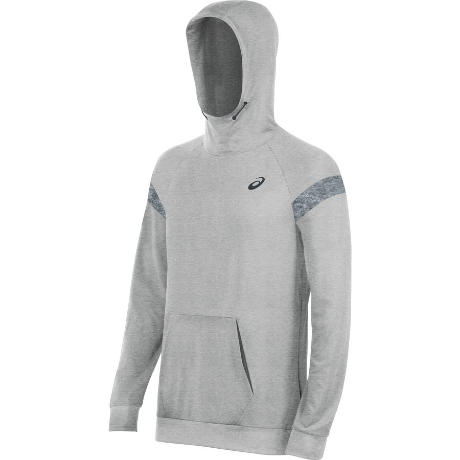 Asics Sanded Pullover Hoodie - Men's Heather Grey アウトドア メンズ 男性用 パーカー スウェット Hoodies & Sweatshirts