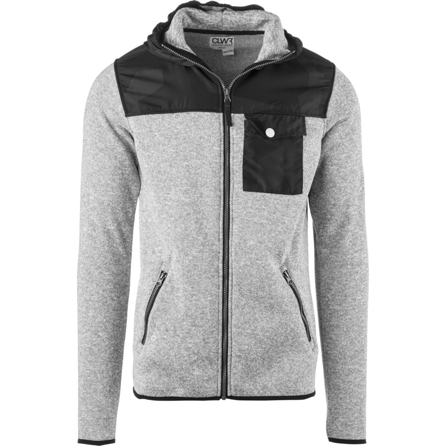 CLWR Pine Full-Zip Hoodie - Men's Grey Melange アウトドア メンズ 男性用 パーカー スウェット Hoodies & Sweatshirts