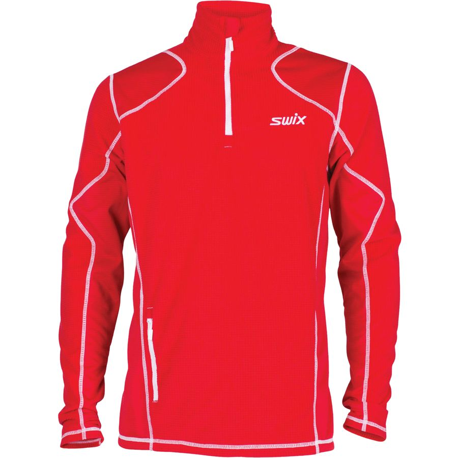 Swix Starlit Polo Midlayer Shirt - Men's Red Mix アウトドア メンズ 男性用 シャツ Performance Shirts